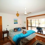 Creek St River House main bedroom - Nambucca Heads holiday rentals - holiday lettings. Mid North Coast accommodation near Valla Beach