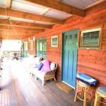 Sanctuary Bush to Beach House verandah - Nambucca Heads holiday rentals - holiday lettings. Mid North Coast accommodation near Valla Beach